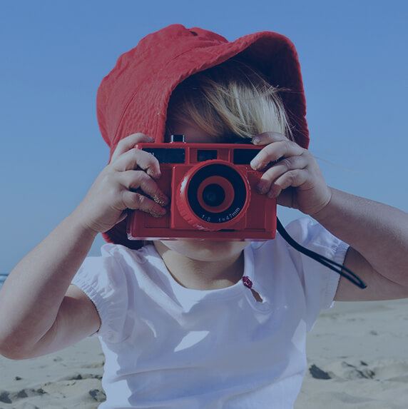 Boy taking picture